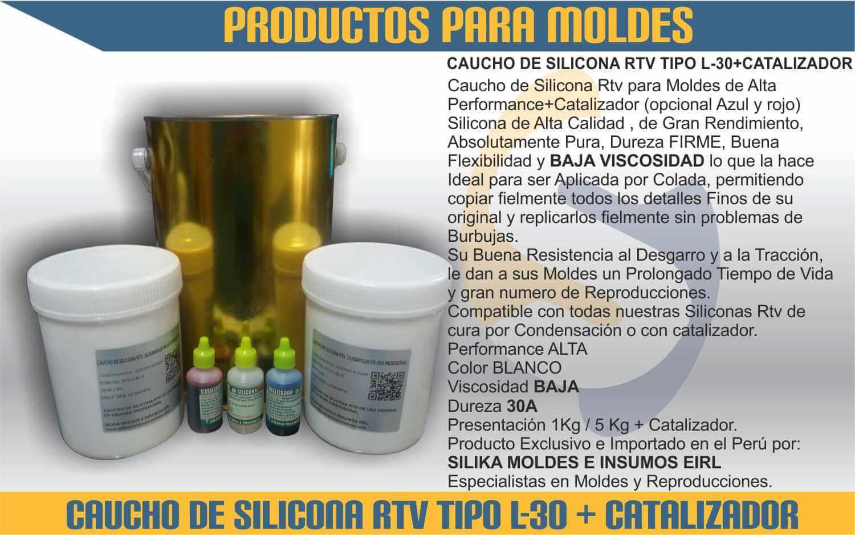 Caucho silicona rtv condensaci n silika moldes e insumos for Caucho de silicona